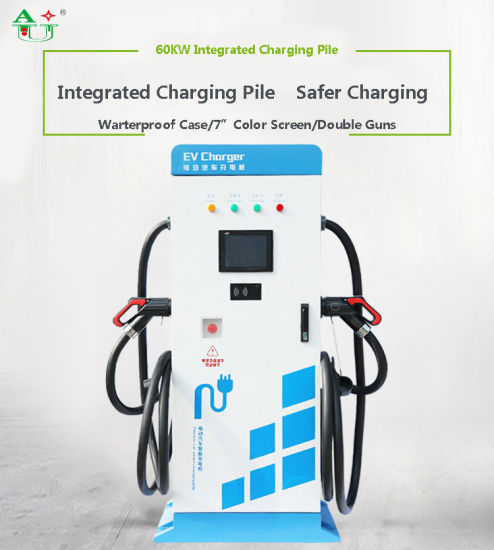 60kw Doulbe-Chargers Smart Fast DC Charging Pile for EV