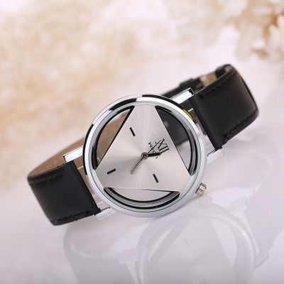 Fashion Matching PU Band Quartz Watch Triangle Crown Wrist Watches pictures & photos