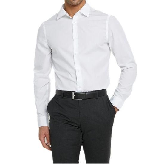 100% Cotton China OEM Long Sleeve Dress Men Shirt