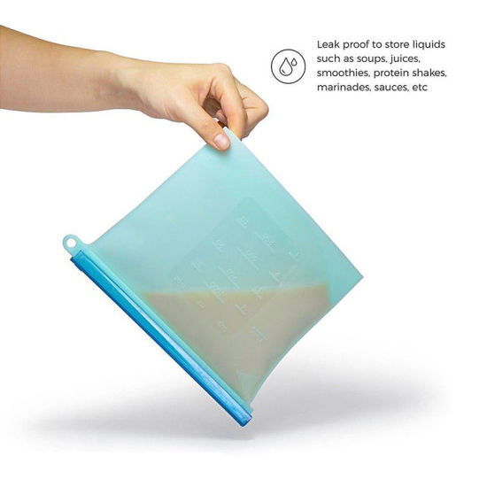 Slicone Storage Bags FDA SGS Eat Directly New Products Photos