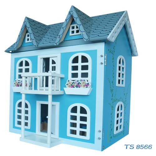 Classical Blue Wooden Doll House pictures & photos