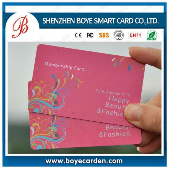 China SGS Approved Transparent PVC Plastic Membership Card