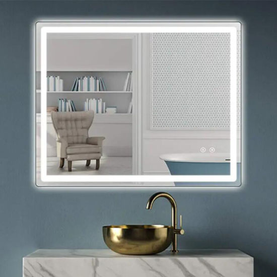 OEM Factory LED Illuminated Bathroom Mirror with Built-in Bluetooth Speaker and Demister