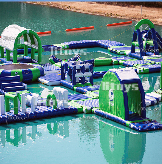 2017 Summer Hot Giant Inflatable Water Slide Aqua Park Toys for Sale pictures & photos