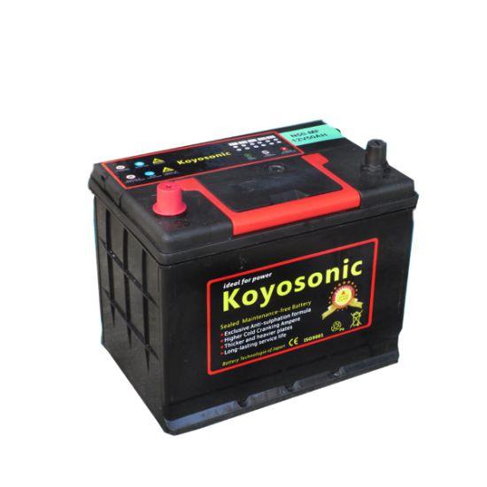 55b24r-Mf Motor Car Battery 12V 50ah Automobile Battery Maintenance Free Auto Car Battery Starting Wet Cell Battery