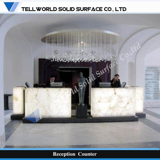 Contemporary Design LED Light Commercial Salon Reception Counter (TW-MART-075)