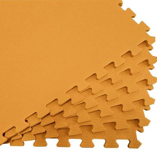 Cheap Price Large Recycling Brushed Texture Orange EVA Foam Mat