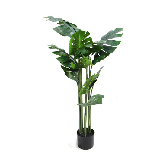 Artificial Floor Plastic House Plants Greenery Tree Potted for House Decoration