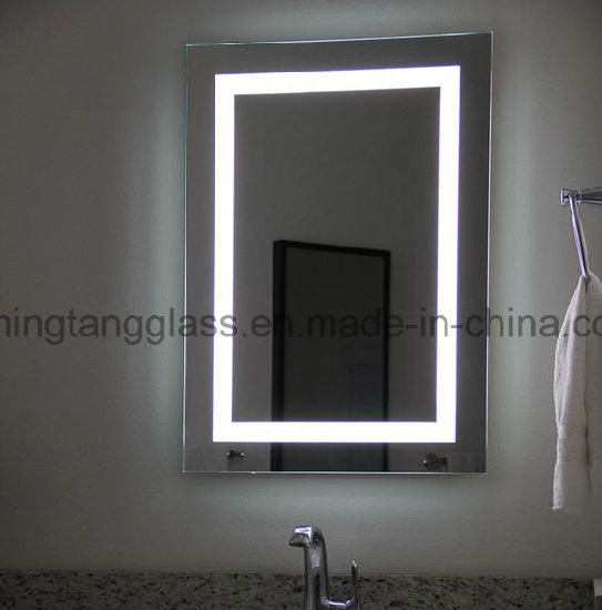 China Uk Wall Mounted Led Backlit Illuminated Bathroom Mirror