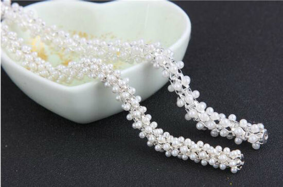 Wedding Garment Accessories Anti-Corn Pearl Chain Round ABS Pearl Cup Chain (SS28/6mm pearl white) pictures & photos