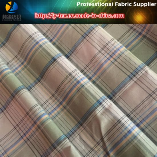 Aty Yarn Dyed Polyester Fabric with Soft Nap Handfeeling for Shirt pictures & photos
