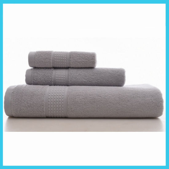 100 Cotton Colourful Stripe Plain Dyed Waffle Weave Tea Towel And Bath Towel