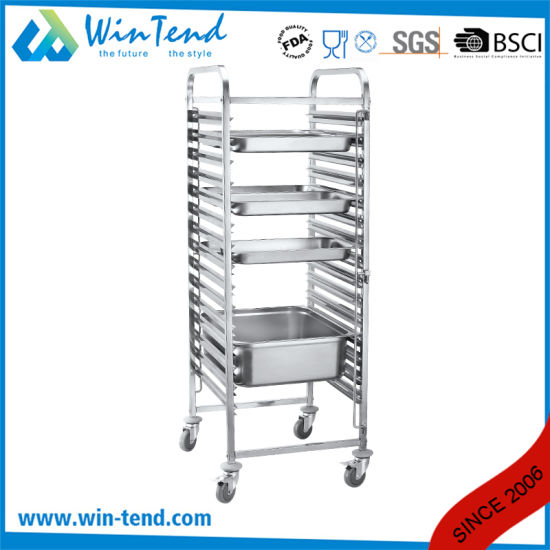 Tall Mobile Movable Gastronorm Pan Trolley for Gn Pan pictures & photos