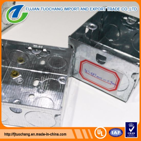 Electrical Gi Outlet Box Knock out Box