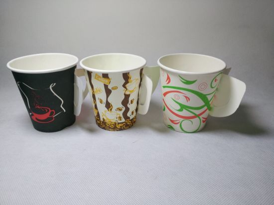 Paper Cup with Handle, Disposable Paper Glass pictures & photos