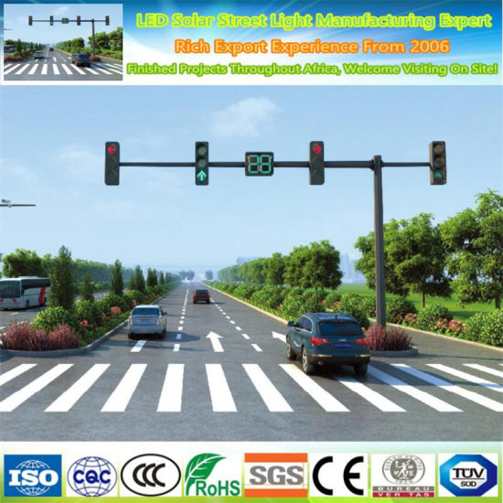 Outdoor Galvanized and Powder Coated Traffic Signal Monitor Light Pole
