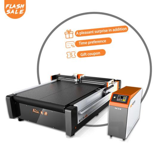 CNC Vibrating Knife Car Interior Mat Floor Mat Seat Leather PVC Foot Pad Cutting Machine for Sale