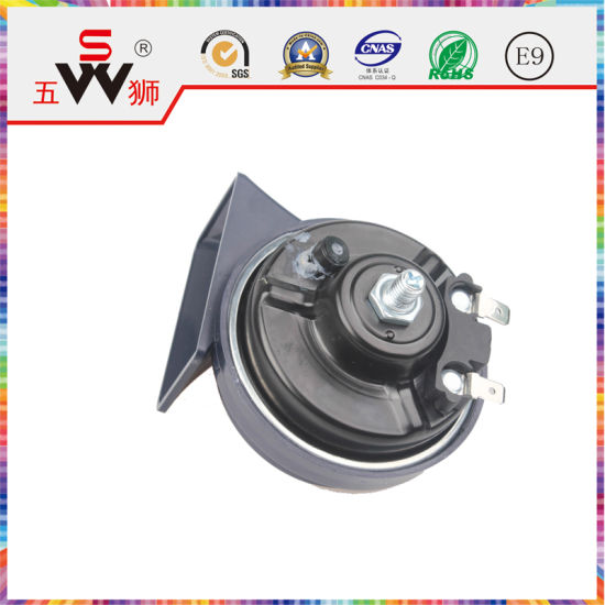 Wushi Black Speaker Disc Horn for Motorbike