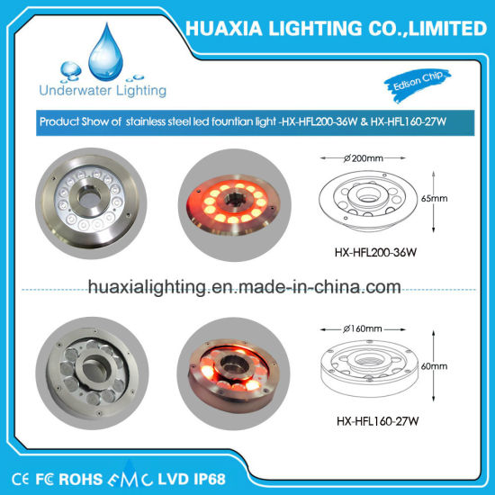 IP68 LED Fountain Lighe for 316 Stainless Steel pictures & photos