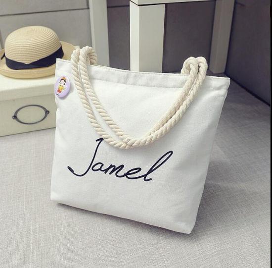 Custom Logo Canvas Beach Wholesale Casual Shopping Tote Bag