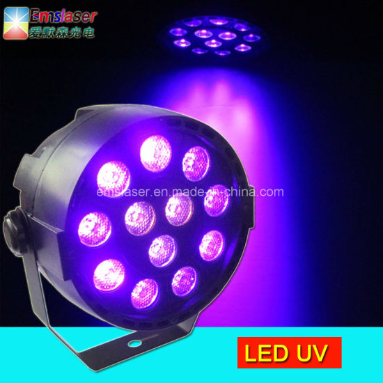 china 12pcs 1w uv led stage effect purple par party disco lighting