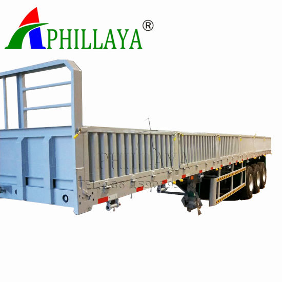 Phillaya Tandem Bogie Axle Double Axles Side Wall Semi Trailer (06)