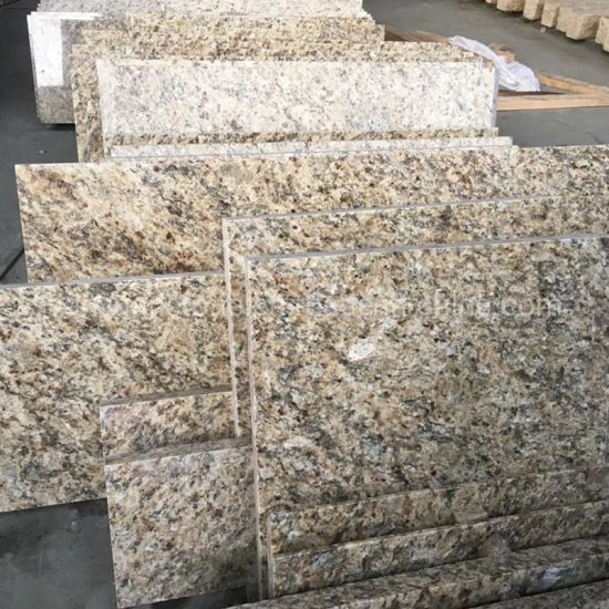 Polished Giallo Santa Cecilia Granite Yellow Granite for Floor Tiles /Slab/ Countertop pictures & photos