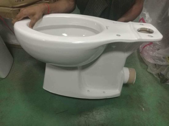 9018 Elongated P Trap Siphonic Two Piece Toilet pictures & photos