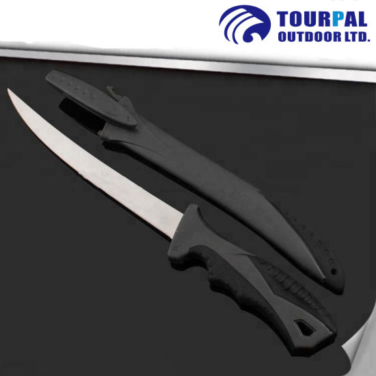 """Hot Sale 8"""" Fillet Knife PP+TPR Handle and Sheath"""