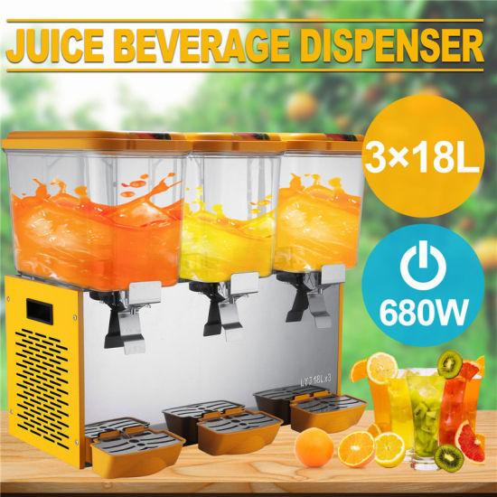 Commercial 18L*3 Tank Frozen Cold Drink Beverage Milk Juice Dispenser Machine
