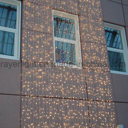 Outdoor LED Festival Decorative Wedding Curtain Lights for Building Wall