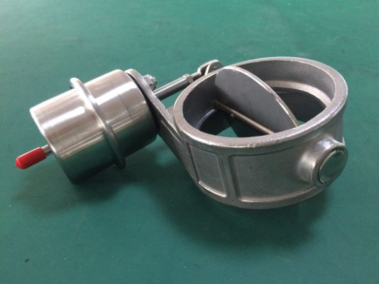 "Racing- Exhaust Control Valve with Vacuum Actuator Cutout 3"" 76mm Pipe Open and Closed pictures & photos"
