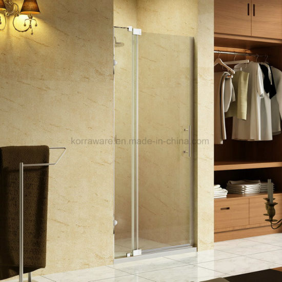 china hotcake frameless hinge pivot shower door screen with 100mm
