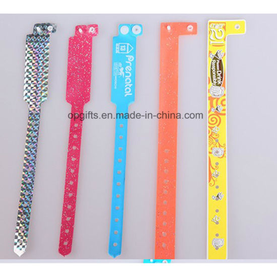 Custom One Time Use PVC Bracelet (SG-001)