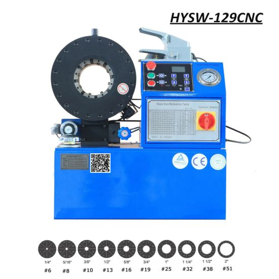 Hysw-129CNC Hose Crimping Machine /Vertical Hose Crimping Machine