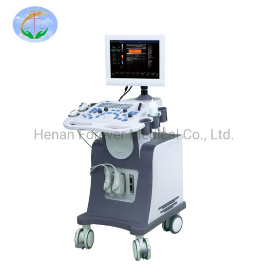 Ce Approved 17 Inch 4D Medical Color Doppler Ultrasound Machine with Trolley for Ob&Gyn (YJ-U80TPLUS)