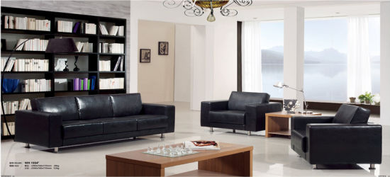 Living Room Genuine Leather Sectional Sofa Set pictures & photos