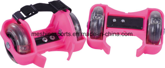 Ce Approval Two-Wheel Adjustable Flashing Roller Shoes for Skate pictures & photos
