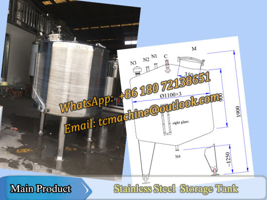 2000liter Horizontal Storage Tank for Jam pictures & photos