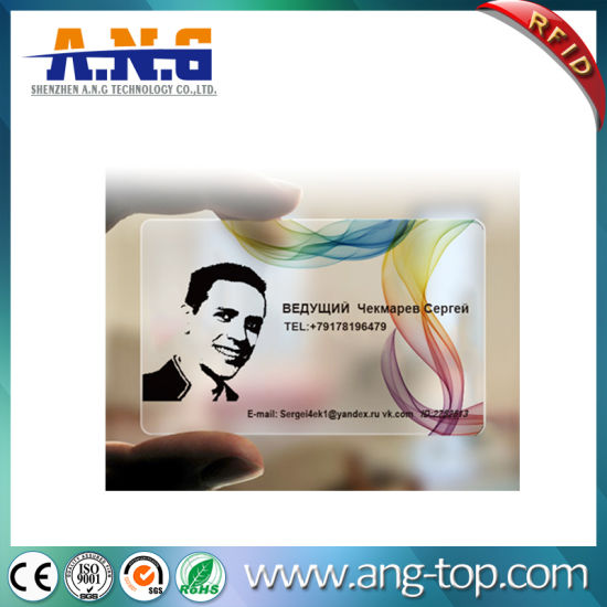off-Set Printing Customize Personalized Transparent PVC ID Card