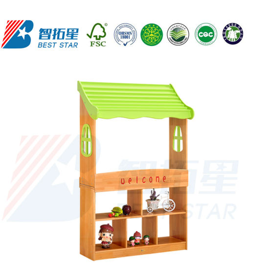Kindergarten Preschool Kids Indoor Playground, Kids Dramatic Play, Dress up and Role-Play Supermarket Play Furniture