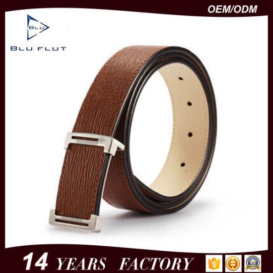 Custom New Brand Buckle Logo Genuine Cowhide Leather Belts