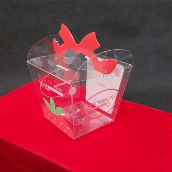 Food Packaging Printing Green Transparent Plastic Folding Box pictures & photos