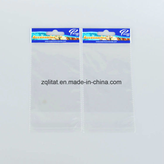 Transparent Self Adhesive BOPP Poly Plastic Bag with Header pictures & photos