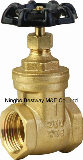Brass Material Gate Valve with Handle Wheel