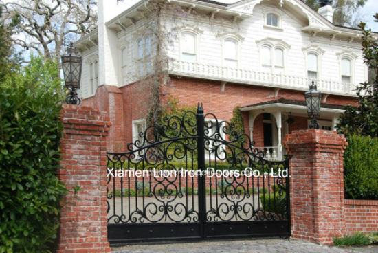 China Arts And Crafts Wrought Iron Gate For Garden China America