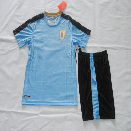 13e7fe9e Uruguay Home Kid Soccer Kit, Football Uniform Kits pictures & photos