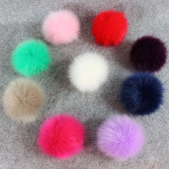 Popular 8cm Fluffy Faux Rabbit Fur Pompom Ball for Hat Bag Shoes pictures & photos