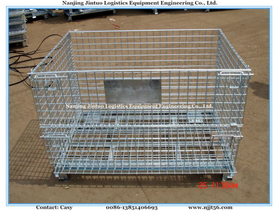 Warehouse Stackable Wire Mesh Container with Heavy Duty pictures & photos