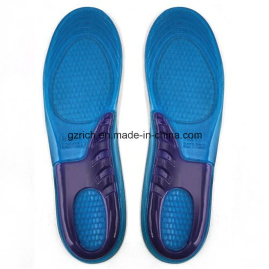 Sports Massaging Silicone Gel Insoles pictures & photos